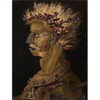 Fire, Giuseppe Arcimboldo, 66.5 x51cm
