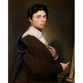 Self-Portrait,Jean-Auguste-Dominique Ingres,50x40cm