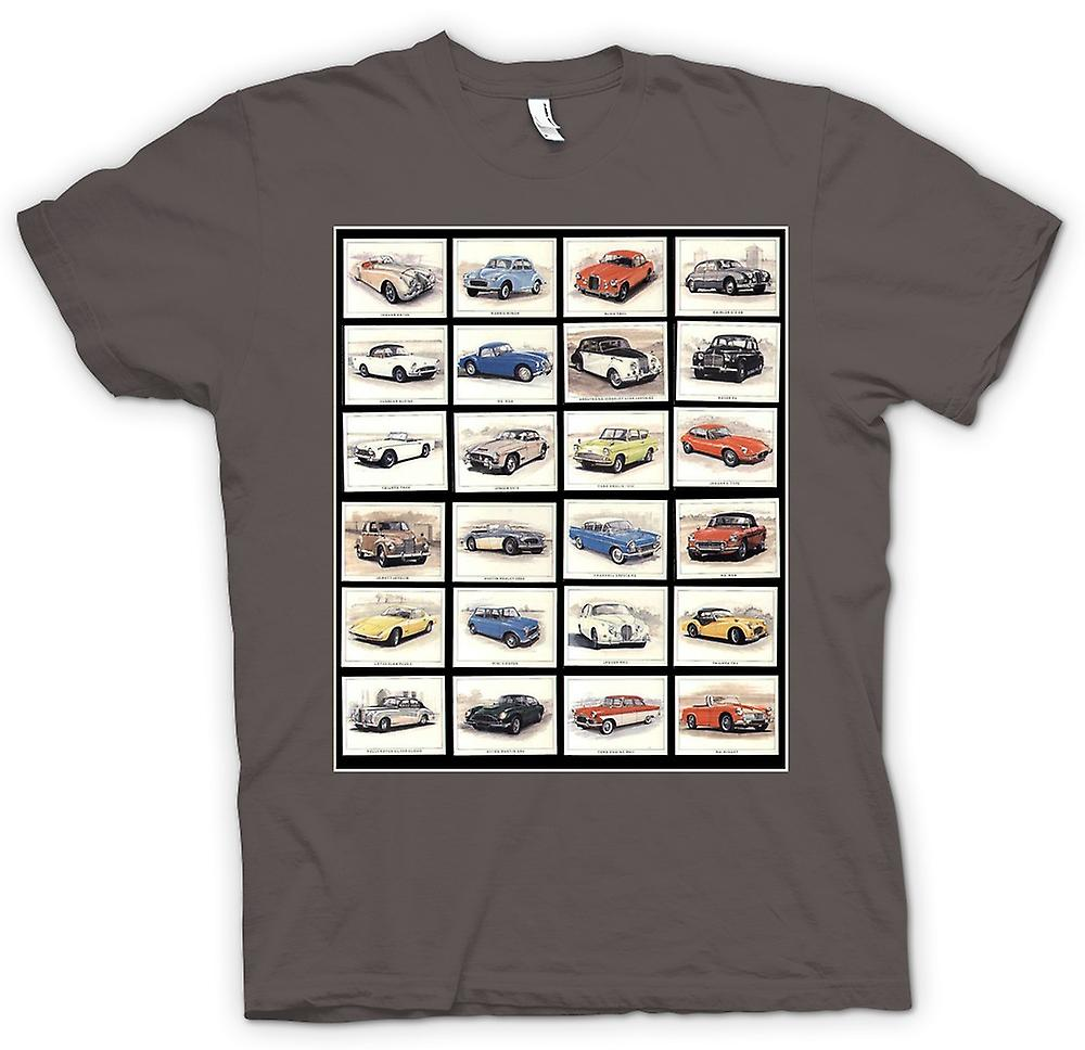 Womens T-shirt - Classic Motor Car Collage - Poster