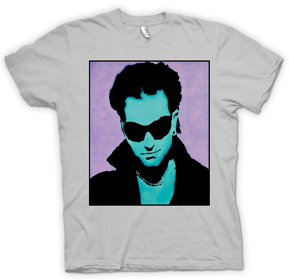 Mens T-shirt - U2 - Bono - Pop Art