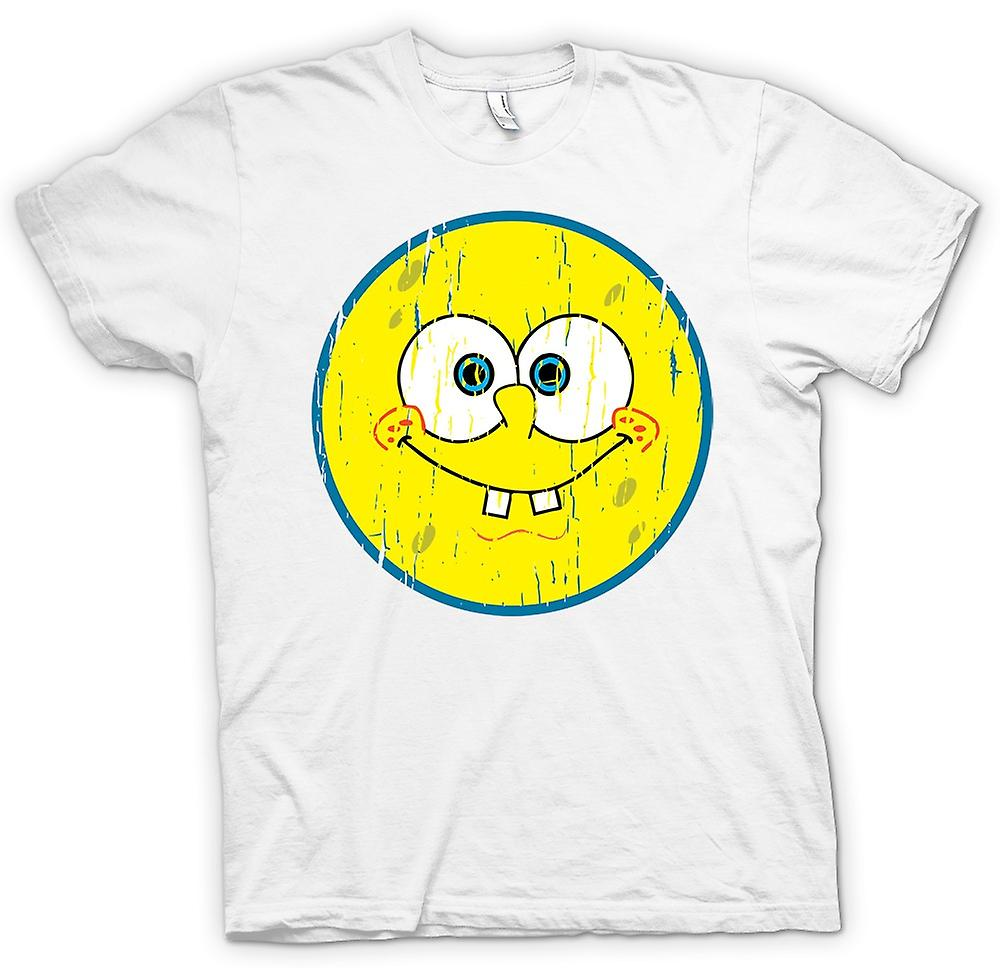 Mens T-shirt - Smiley Face - Sponge Bob