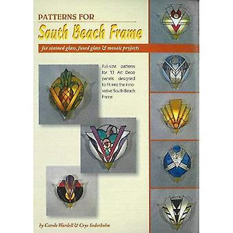 Patterns for South Beach Frame: 13 Full Size Stained Glass Patterns for Light Frame