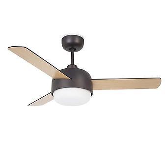 Klar Copper Brown Illuminated Ceiling Fan - Leds-C4 30-4864-J7-F9