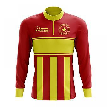 Vietnam-Konzept Fußball Half Zip Midlayer oben (rot-gelb)