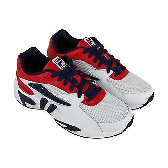 Fila Mindblower 1RM00378-616 mens wit casual Lace up lage top sneakers schoenen