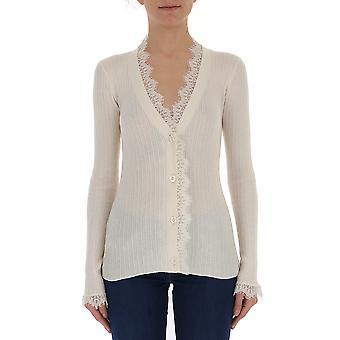 Semi-couture White Cotton Cardigan