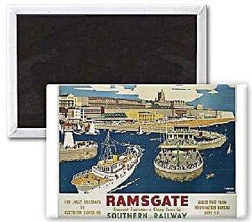 Ramsgate (old rail ad.) landscape steel fridge magnet