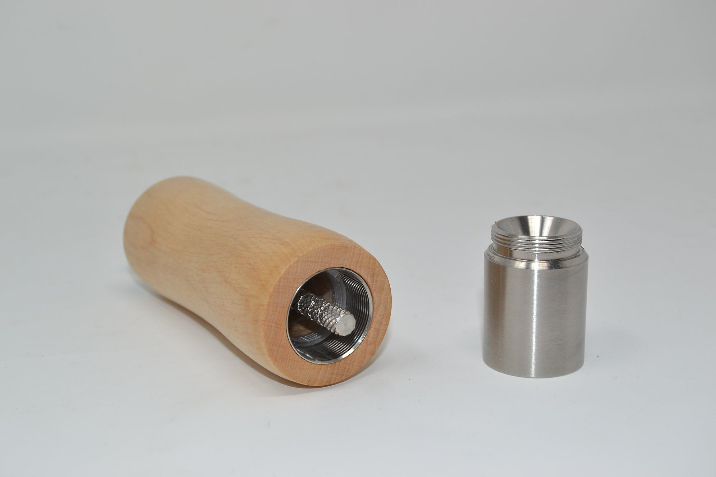 Wood single hand spice grinder mill from Alder Pepper Mill, salt mill of pepper spice salt mill hand made made in Austria gift gift idea