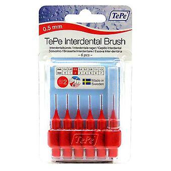Tepe Interdental Brush 0.5 Red 6