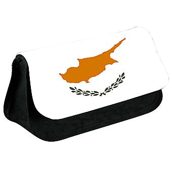 Cyprus Flag Printed Design Pencil Case for Stationary/Cosmetic - 0045 (Black) by i-Tronixs