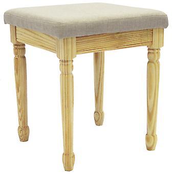 Filo - tavolo in legno massello medicazione sgabello con sedile imbottito - pino / grigio caldo