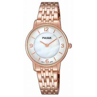 Pulsar Womens oro rosa PVD placcato PRW028X1 Watch