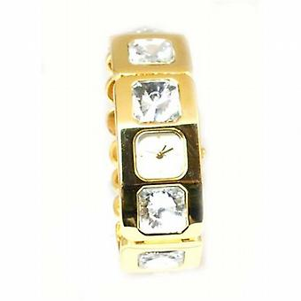Crystal Couture Gold Tone Bracelet Strap Ladies Fashion Watch WA066944