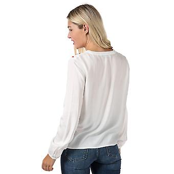 Womens Vero Moda Wendy Embroidered Top In Snow White