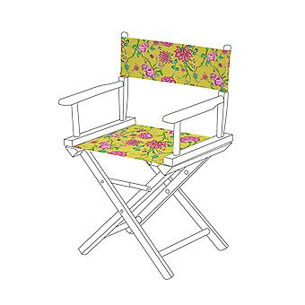 Gardenista® Chintz Yellow Design Replacement Directors Chair Canvas Cover