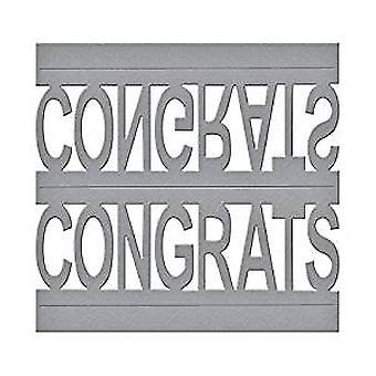 Spellbinders Congrats Pop-Up Die Designer Series (S3-246)
