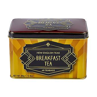 New english teas art deco english breakfast tea tin 40 teabags