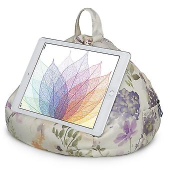 Ipad, tablet & ereader bean bag stand by ibeani - floral plum