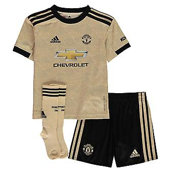adidas Kids Manchester United Away Sports Football Mini Kit 2019 2020
