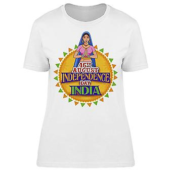 Lady Doing Namaste Gesture India Tee Women's -Image by Shutterstock