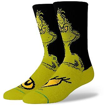 Stance The Grinch Crew Socks in Green