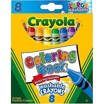 Crayola Coloring Book Large Washable Crayons 8 Pkg 52 3980