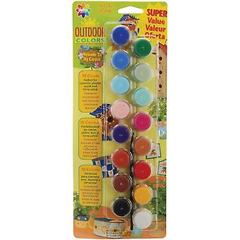 Outdoor Colors Acrylic Paint Pots 16 Colors 27050056