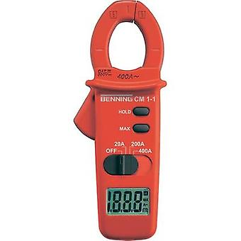 Current clamp digital Benning CM 1-1 Calibrated to: Manufacturer standards CAT III 600 V Display (counts): 2000