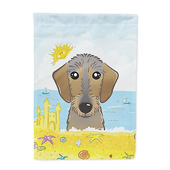 Wirehaired Dachshund Summer Beach Flag Garden Size BB2101GF