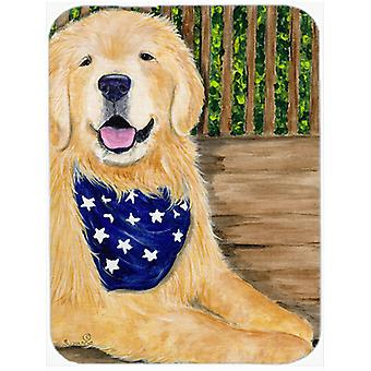 Golden Retriever Glass Cutting Board Large