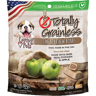 Totally Grainless Meaty Chewy Bones For Small Dogs 6oz-Chicken & Apple LP5309
