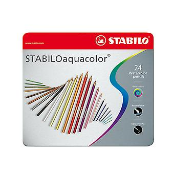 STABILO Aquacolor Metallbox, fertige 24..