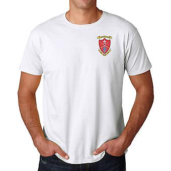 1st Bn 5th USMC Marines Embroidered Logo - Cotton T Shirt