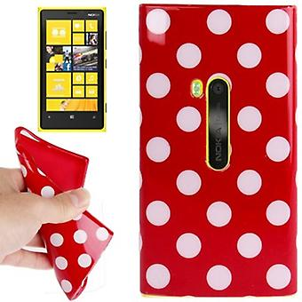 Protective case TPU points of case for mobile Nokia Lumia 920 Red