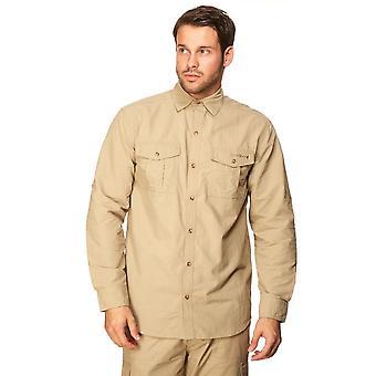 Peter Storm Men's Long Sleeve Travel Shirt Beige