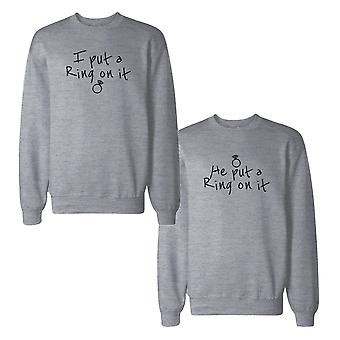 Ring auf paar es Sweatshirts Engagement passende Sweat-Shirts
