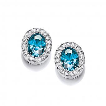 Cavendish French Timeless Elegance Blue Topaz Earrings