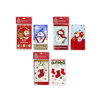 4 Handcrafted Christmas Money Wallets with 2 Designs Gift Card