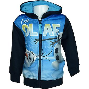 Disney garçons congelé Olaf Full Zip Hooded SweatshirtHoodie PH1358