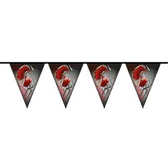 Bloody Halloween party Wimpel chain 10 m long decoration