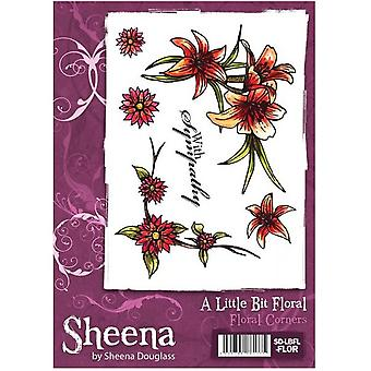 Crafter's Companion Sheena Douglass A Little Bit Floral A6 Stamp Set - Floral Corners Stamp