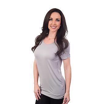 Agiato kvinders grundlæggende Rayon Crew Neck T-Shirt