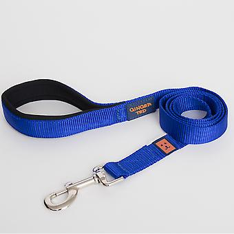Ginger Ted Nylon Padded Dog Lead Blue (2 sizes)