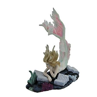 Lost Books By Tiffany Toland-Scott Reading Mermaid Statue