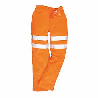 RSU - Hi-Vis sicurezza Workwear Poly-cotton Rail Track SideTrousers RIS