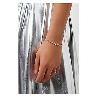 The Fashion Bible Silver Diamante Bracelet