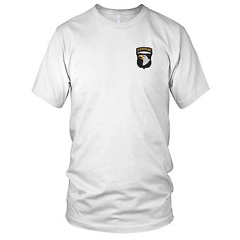 US Army - 101st Airborne Division Screaming Eagles Embroidered Patch - Ladies T Shirt