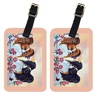 Carolines Treasures  7272BT Pair of 2 Papillon Luggage Tags