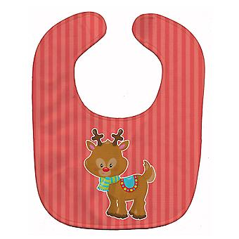 Carolines Treasures  BB8683BIB Christmas Reindeer and Stripes Baby Bib