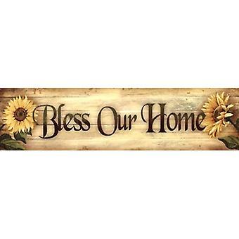 Välsigna våra hem affisch Skriv av Ed Wargo (30 x 8)